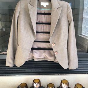 Petite sophisticate cream color blazer size 0